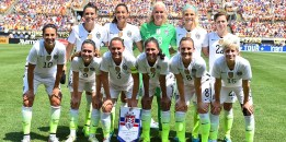 Starting XI for USWNT in friendly vs Costa Rica before over 43,000 at Heinz Field (August 2015)